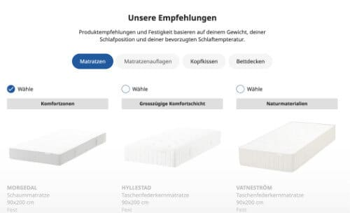 IKEA-Matratzen Empfehlungen