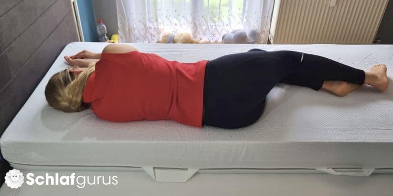 Schlafposition Emma One Federkern Matratze